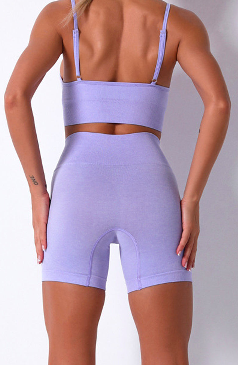 Booty Clothing Plum Game Stretch Shorts