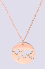 Send Me On My Way Rose Gold Pendant