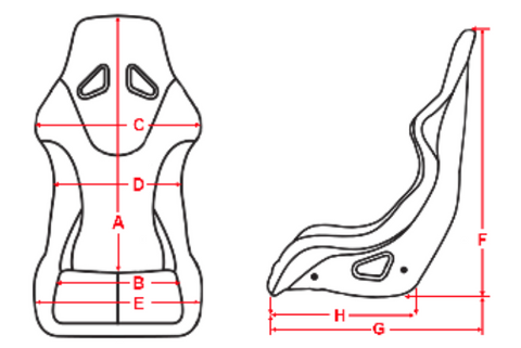 Racequip Containment Seat Size Chart Diagram