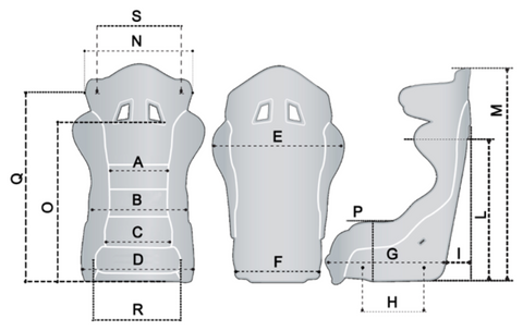 Sparco Circuit II Seat Size Chart Diagram