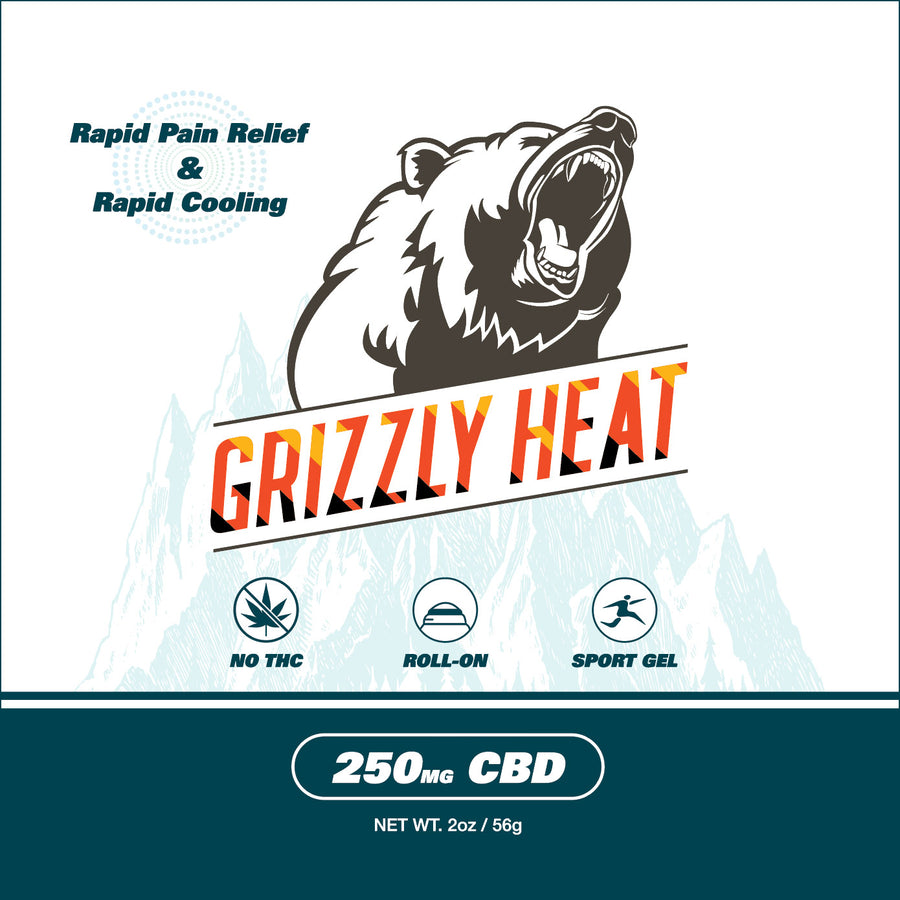 Grizzly Heat CBD Sports Gel Roll-on - 2oz - 250mg