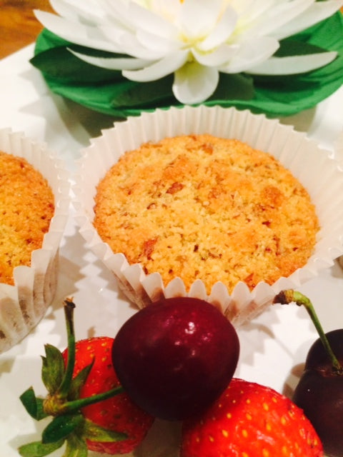 Almond Pulp and Coconut Cupcakes lactose free recipe