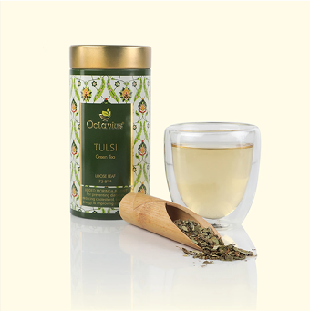 Tulsi Rose Chamomile Green Tea - Loose Leaf