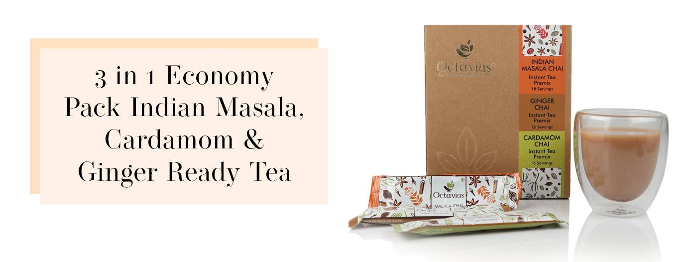 3 in 1 Economy Pack Indian Masala Cardamom & Ginger Ready Tea