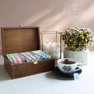 Load image into Gallery viewer, Assortment of Fine Teas - 90 Teabags in Handcrafted Cutwork Wooden Box