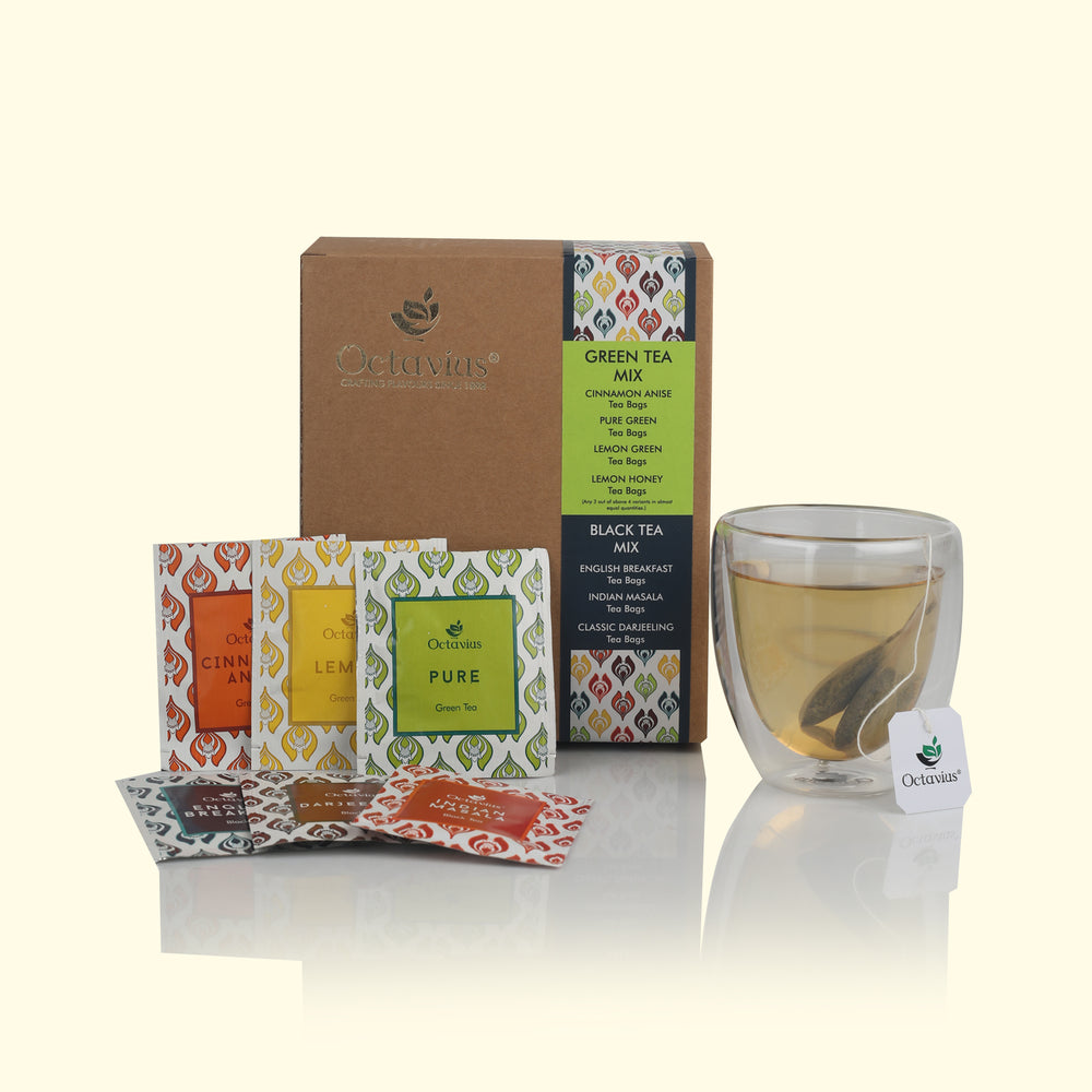 Economy Pack  6 Assorted Black and Green Tea