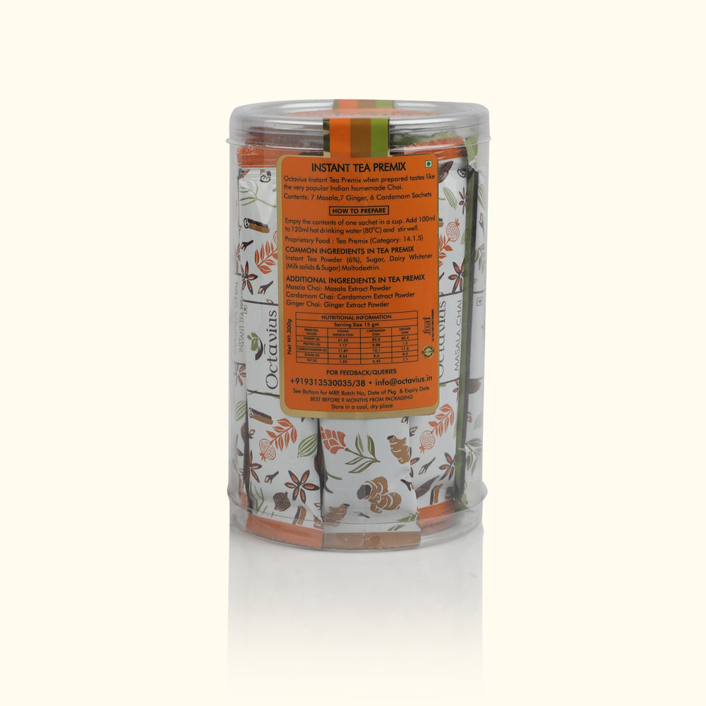 Load image into Gallery viewer, 3 in 1 Premix Pack (Indian Masala, Ginger and Cardamom Tea)