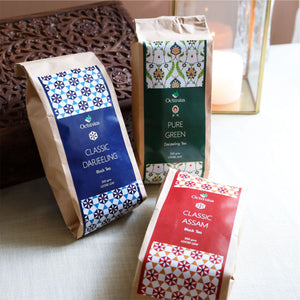 Load image into Gallery viewer, Premium Indian Black & Green Tea Collection (whole Leaf Darjeeling, Pure Green & Assam)