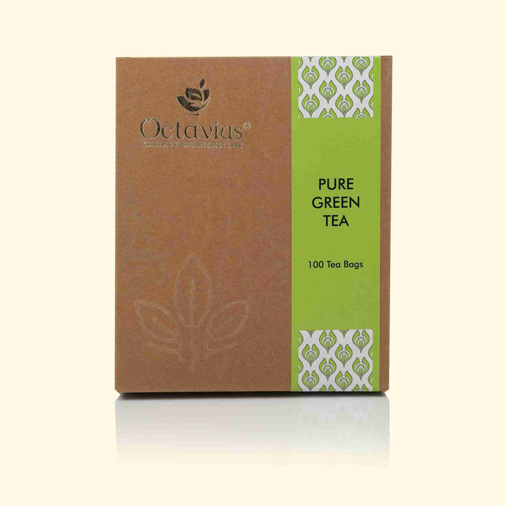 Load image into Gallery viewer, Octavius Pure Green Tea Economy Pack - 100 Enveloped Tea Bags
