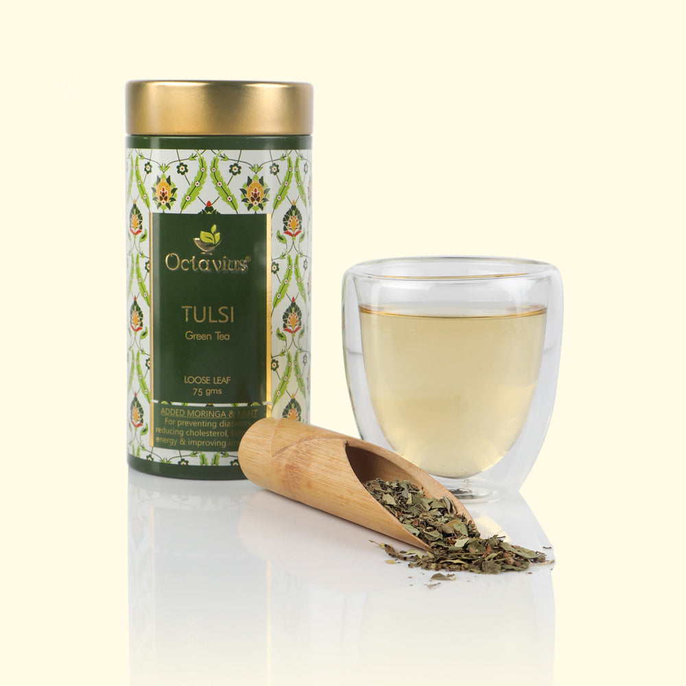 Moringa, Tulsi, Mint Green Tea - Loose Leaf