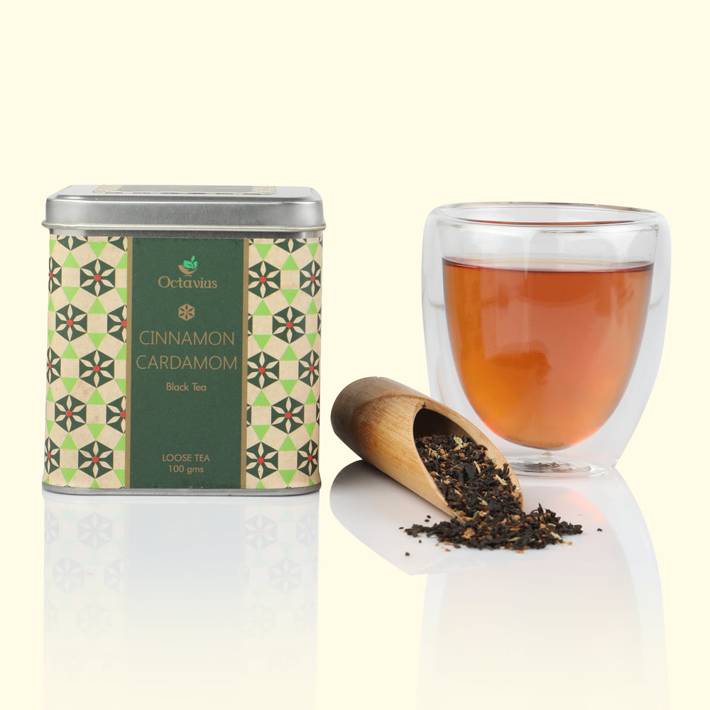 Premium Cinnamon & Cardamom Black Tea Loose Leaf