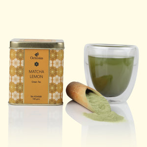Load image into Gallery viewer, Japanese Lemon Matcha Green Tea Powder