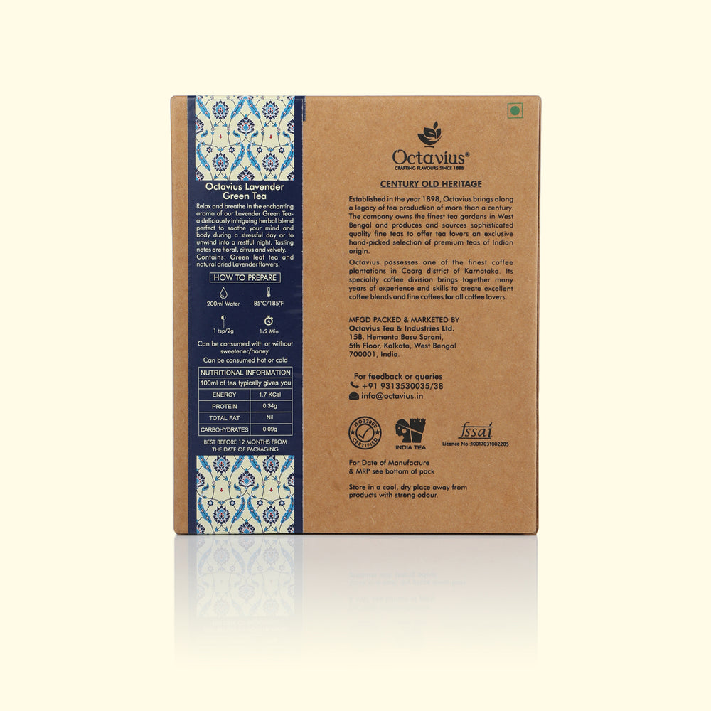 Load image into Gallery viewer, Lavender Green Tea - Loose Leaf (Kraft Box)