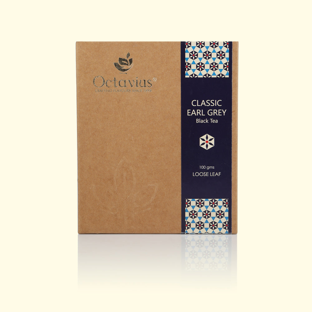 Load image into Gallery viewer, Octavius Classic Earl Grey Black Tea Loose Leaf - 100 gms