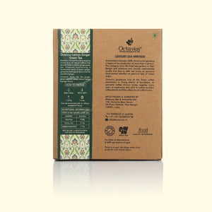 Load image into Gallery viewer, Octavius Ginger & Lemon Classic Green Tea -100 Gms