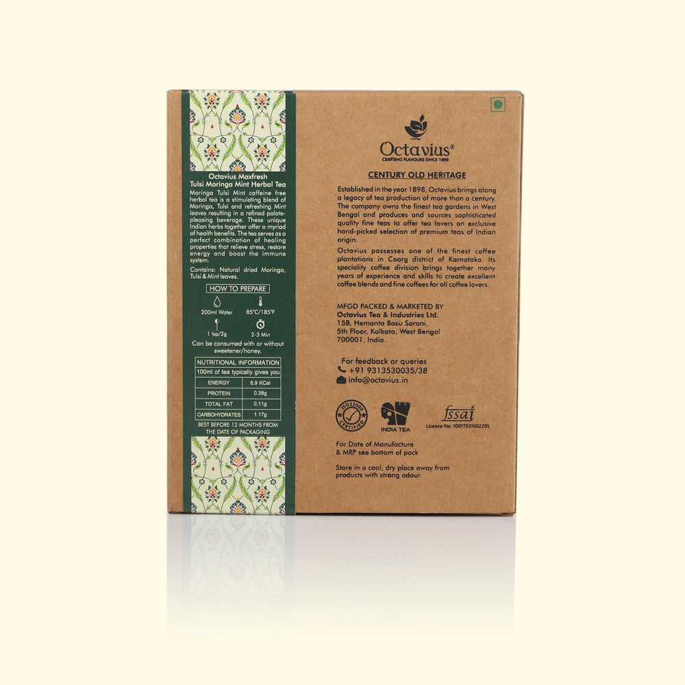 Load image into Gallery viewer, Maxfresh Tulsi Moringa Mint Loose Leaf Tea