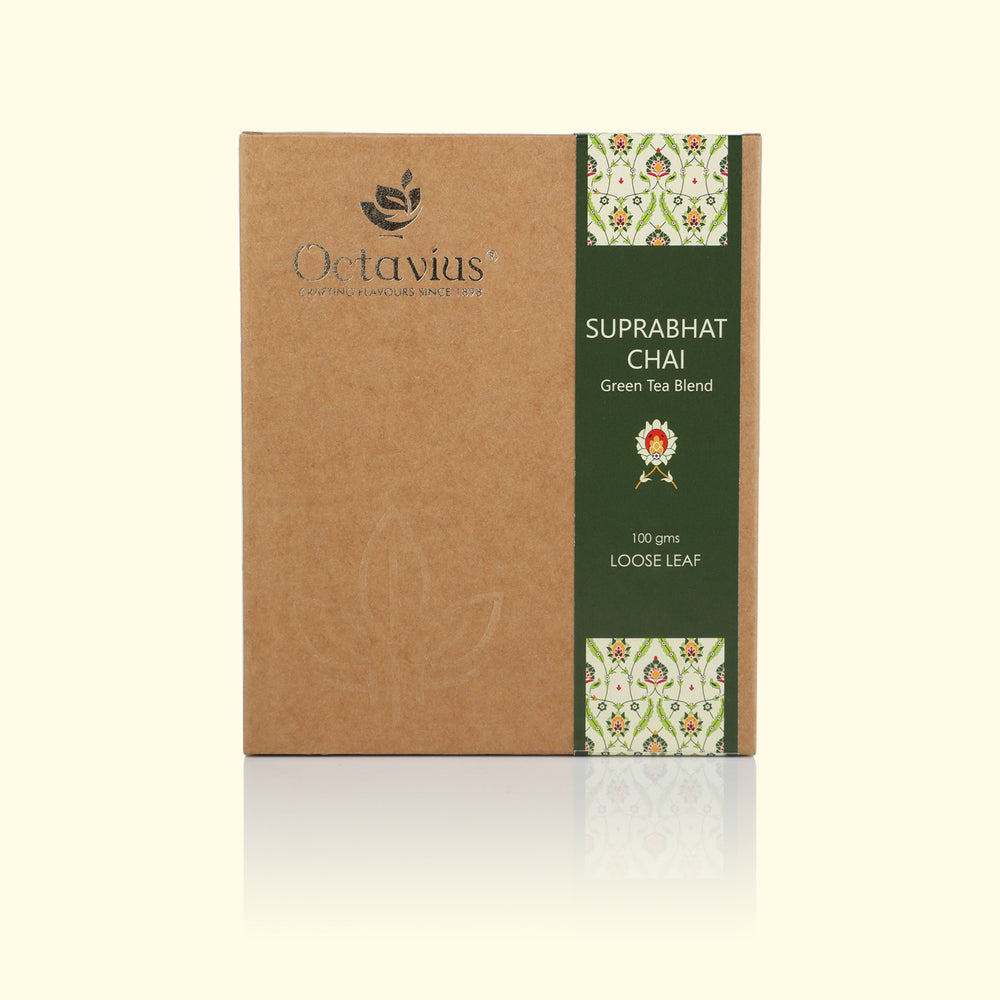 Load image into Gallery viewer, Octavius Suprabhat Chai Green Loose Leaf Tea - 100 Gms