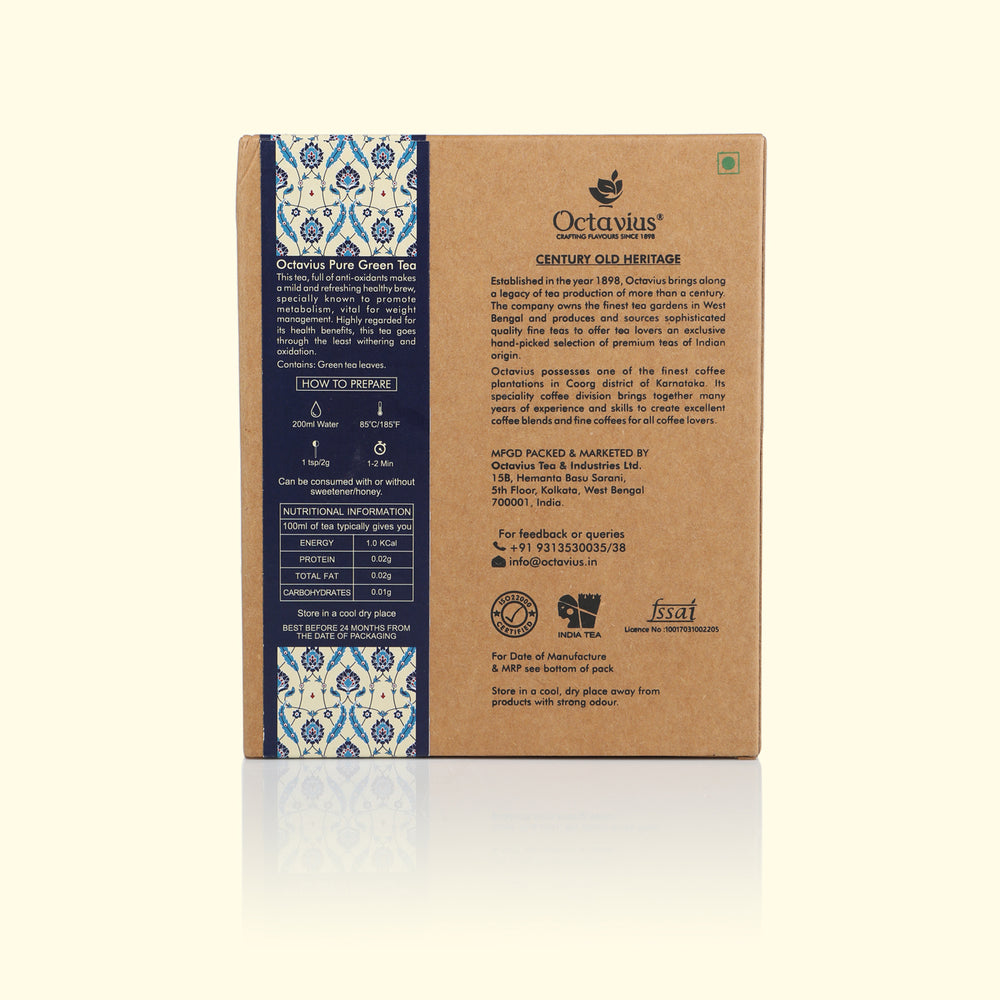 Load image into Gallery viewer, Pure Green Tea Loose Leaf (Craft Paper Box)