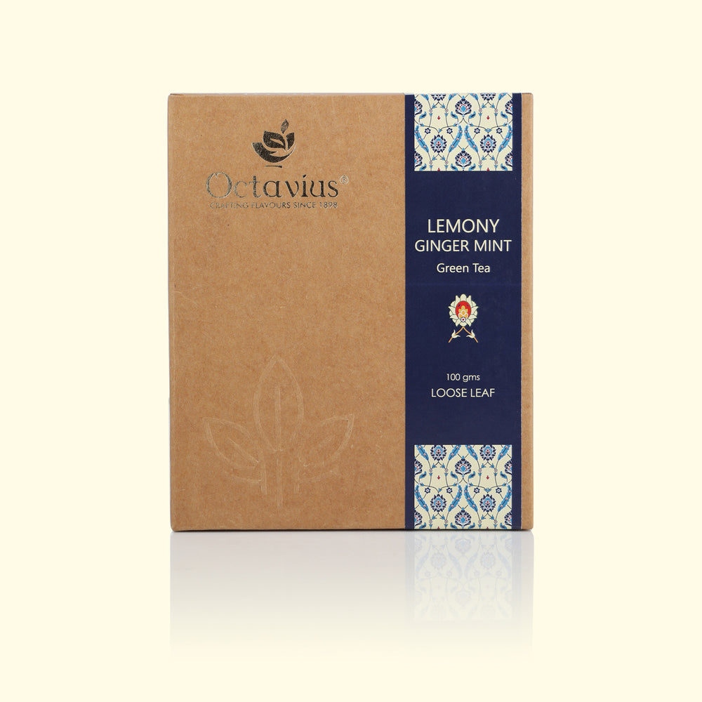 Load image into Gallery viewer, Lemony Ginger Mint Green Loose Leaf Tea