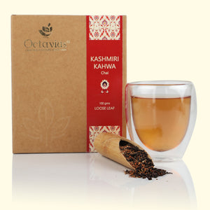 Load image into Gallery viewer, Octavius Kashmiri Kahwa Green Tea Loose Leaf - 100 Gms