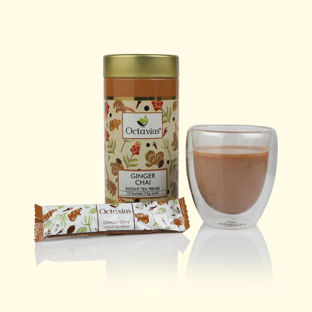 Ginger Chai Ready Tea(Round Tin)