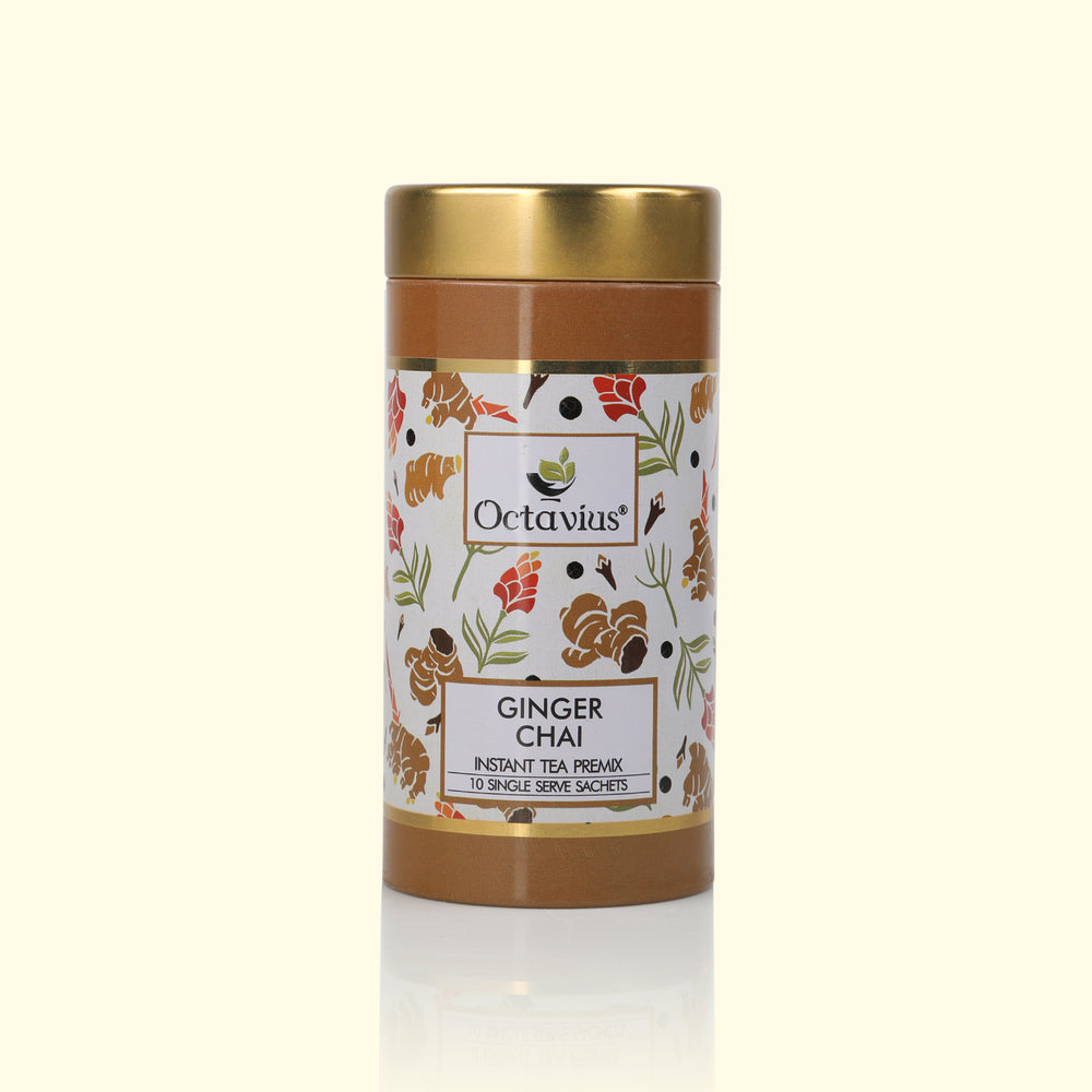 Load image into Gallery viewer, Ginger Chai Ready Tea(Round Tin)