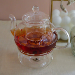 Load image into Gallery viewer, Borosilicate Glass Tea Warmer