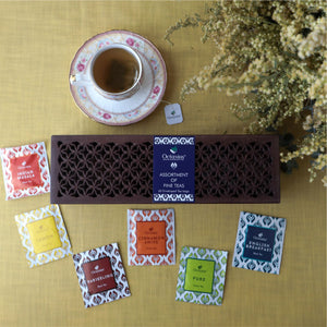 Load image into Gallery viewer, Assortment of Fine Black & Green Teas (handcut Wooden Gift Box) 60tb