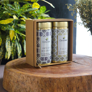 Load image into Gallery viewer, Octavius Gourmet Tea Collection| Grand Indian Teas Range Assorted - 2 Tins Packed In An Exclusive Gift box