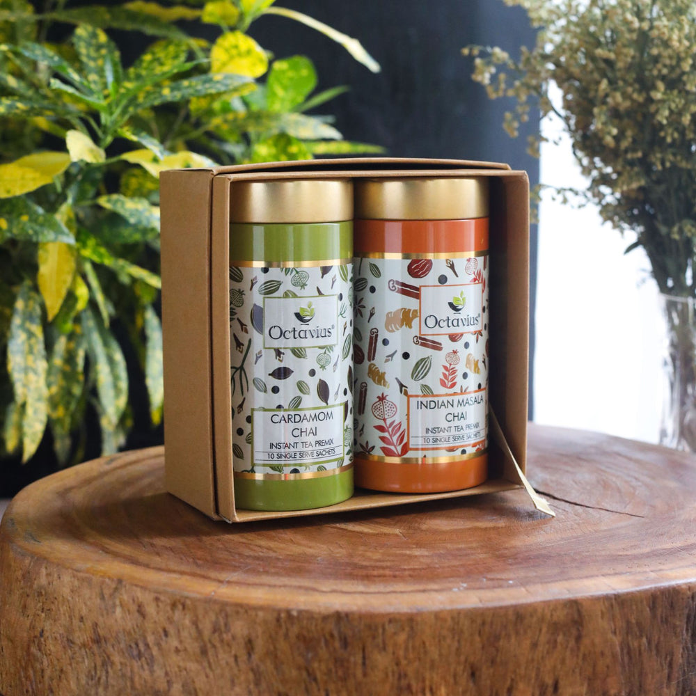 Octavius Gourmet Tea Collection| On the Go Range - 2 Tins Packed In An Exclusive Gift box