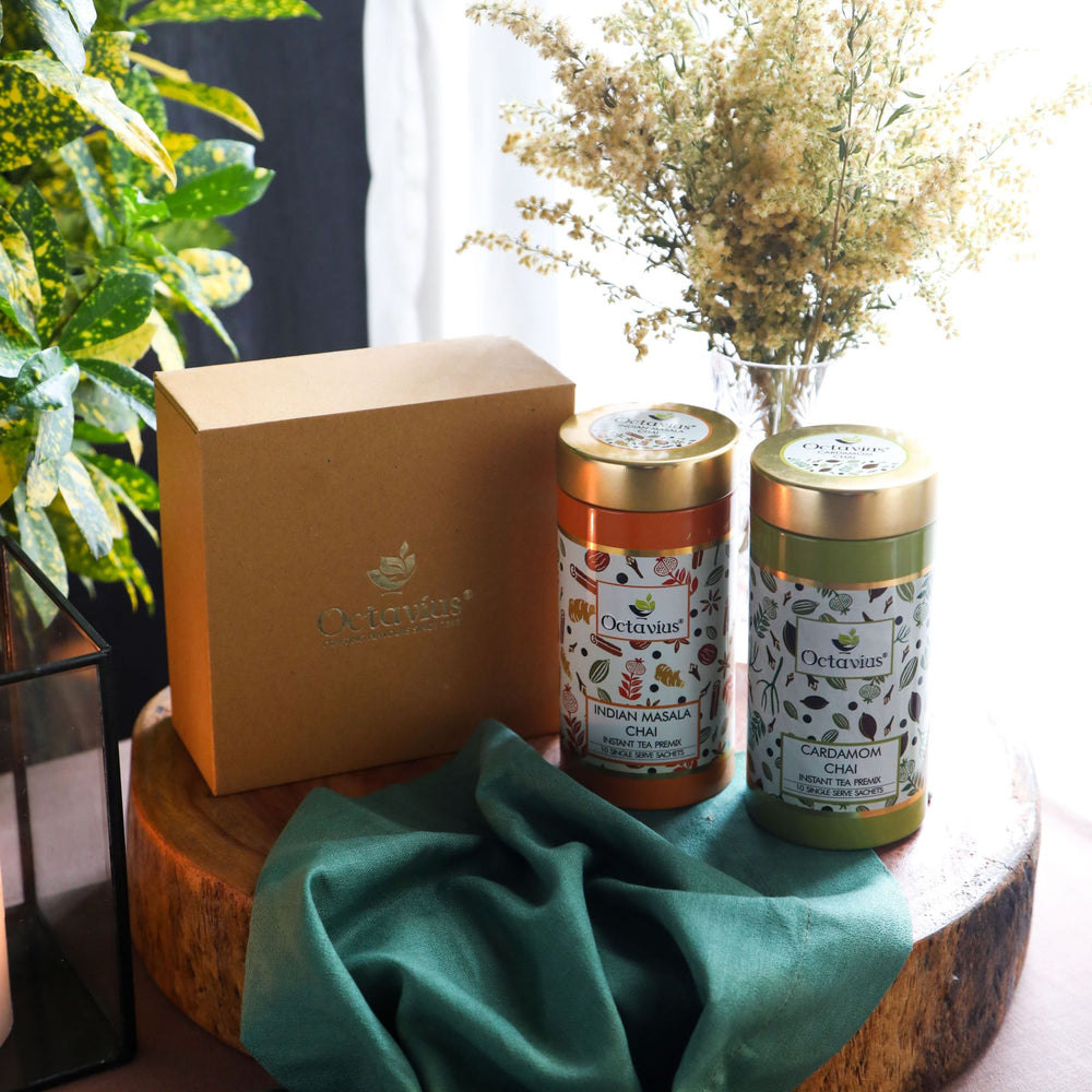 Load image into Gallery viewer, Octavius Gourmet Tea Collection| On the Go Range - 2 Tins Packed In An Exclusive Gift box