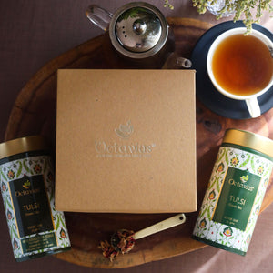 Load image into Gallery viewer, Octavius Gourmet Tea Collection| Truly Tulsi Teas Ranges - 2 Tins Packed In An Exclusive Gift box