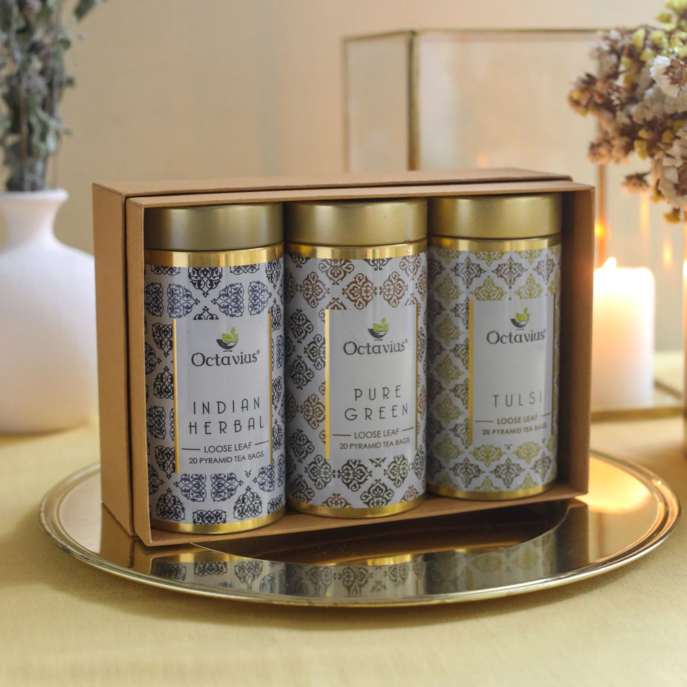Octavius Gourmet Tea Collection| Immunitea Range - 3 Tins Packed In An Exclusive Gift box