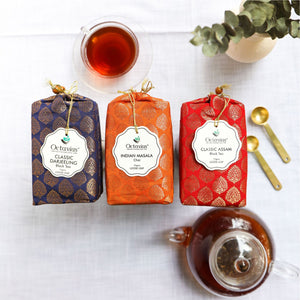 Load image into Gallery viewer, Indian Tea Collection- Festive Range (Indian Masala Chai, Classic Darjeeling, Classic Assam)