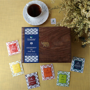 Load image into Gallery viewer, Assortment of Fine Teas- 90 Teabags in Sesham Wood Box
