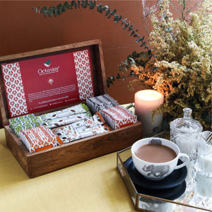 Load image into Gallery viewer, Assortment of Fine Black & Green Teas In Teabags & 2 Types of Instant Tea Premix (wooden Gift Box)