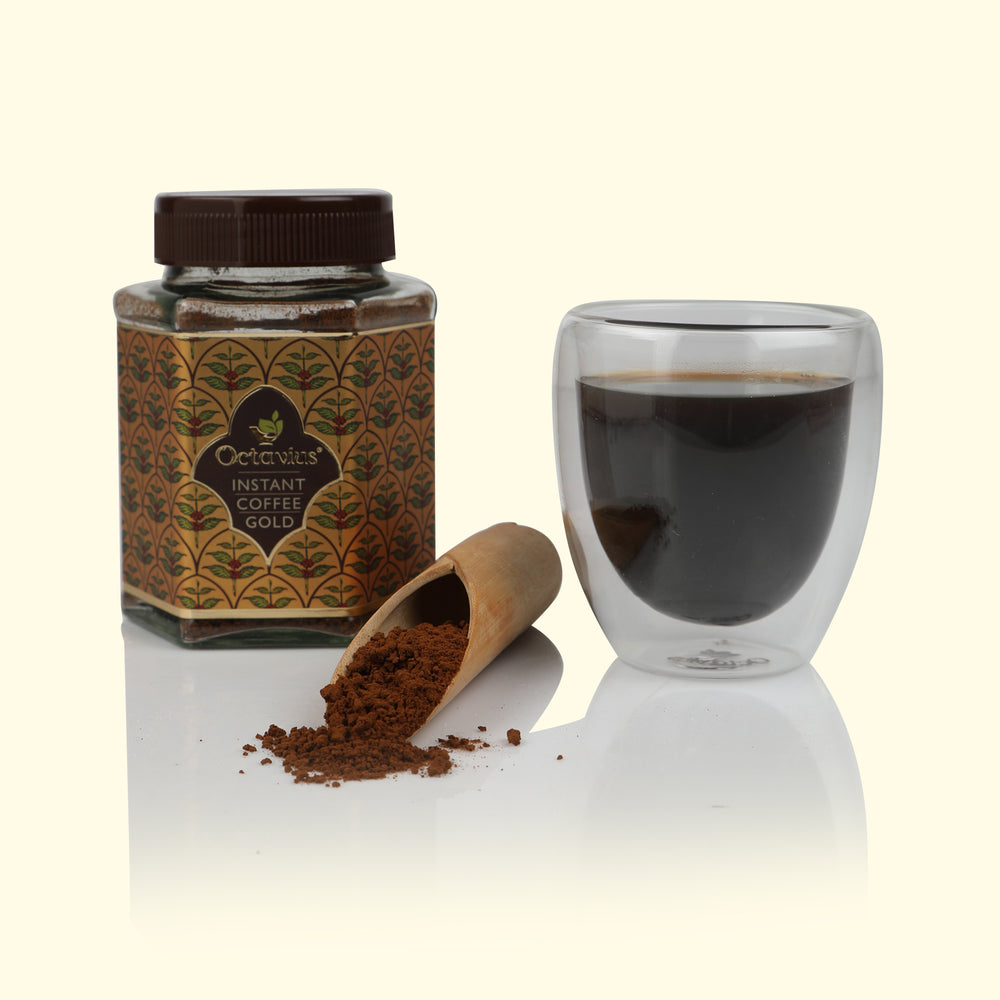 Gold Instant Coffee Powder Jar