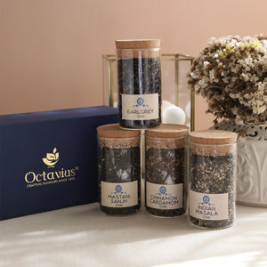 Load image into Gallery viewer, Tea Time Treasure-Charming Chais (4 Assorted Loose Leaf Black Teas)