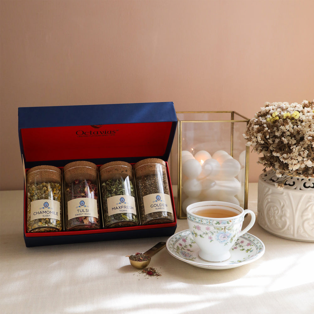 Tea Time Treasure-Wellness Infusions  (4 Assorted  Caffeine Free Teas)