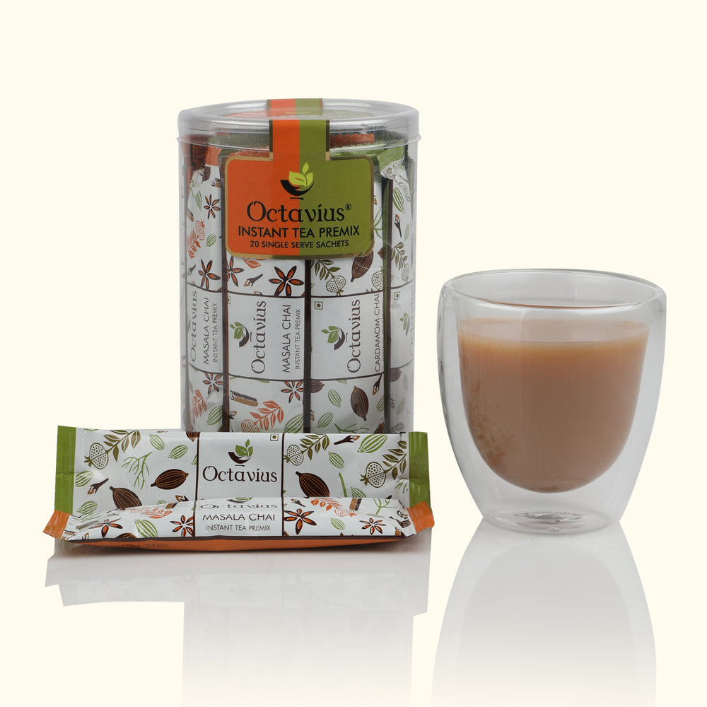 Load image into Gallery viewer, 2 in 1 Clear Pack Indian Masala & Cardamom Chai Ready Tea