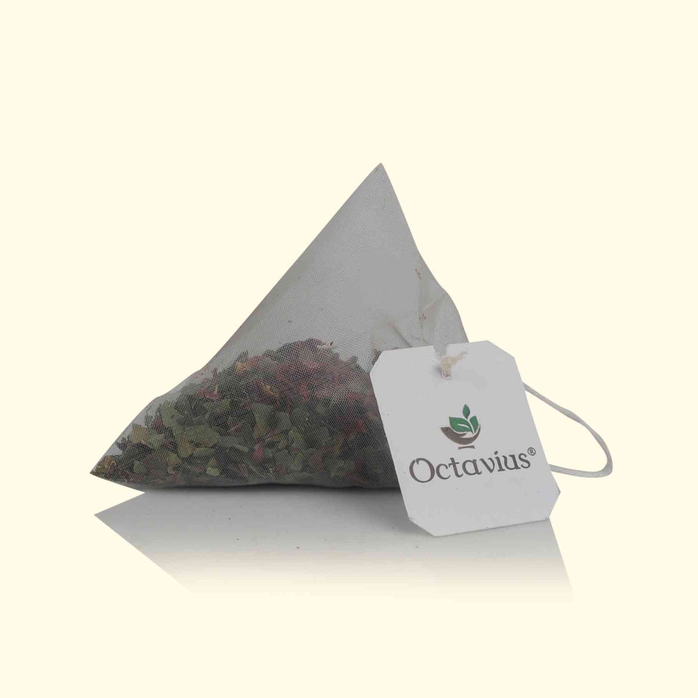Load image into Gallery viewer, Rose Green Tea (Pyramid Teabags)