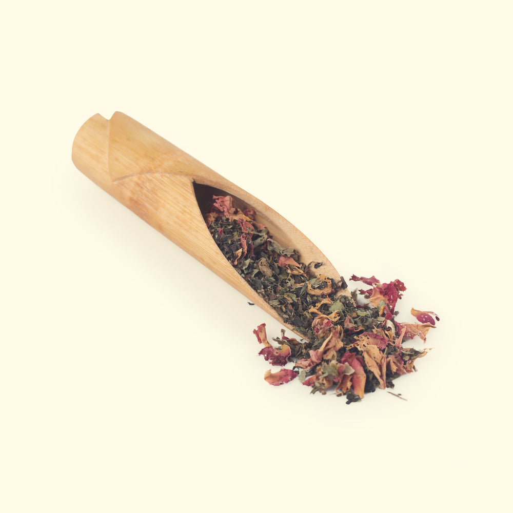 Load image into Gallery viewer, Tulsi Sweet Rose Green Tea - Loose Leaf