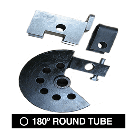 Round tube dies that bend up to 180-Degree