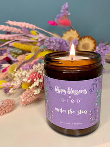 GLØD x THE HAPPY BLOSSOMS 'Under the stars' scented soy wax candle