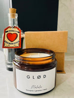 Load image into Gallery viewer, Large scented soy candle and matches in a bottle