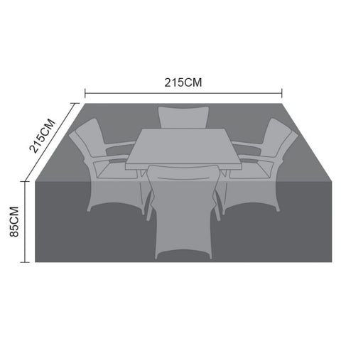Cover for 4 Seat Square Dining Set - 215cm x 215cm x 85cm