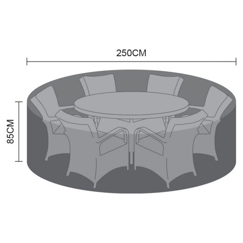 Cover for 6 Seat Round Dining Set - 250cm x 85cm