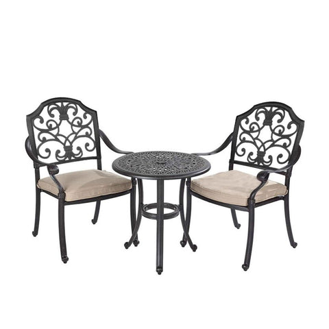 Cotswold 2 Seat Round Bistro Set - 60cm Round Bistro Table
