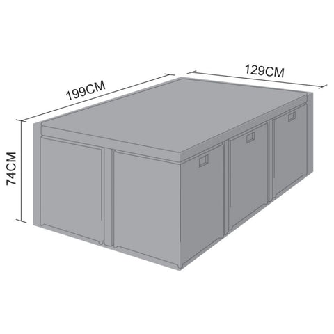 Cover for 6 Seat Cube Set - 199cm x 129cm x 74cm