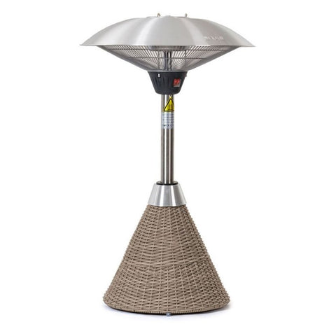 2.1kW Table Top Electric Patio Heater with Rattan Base